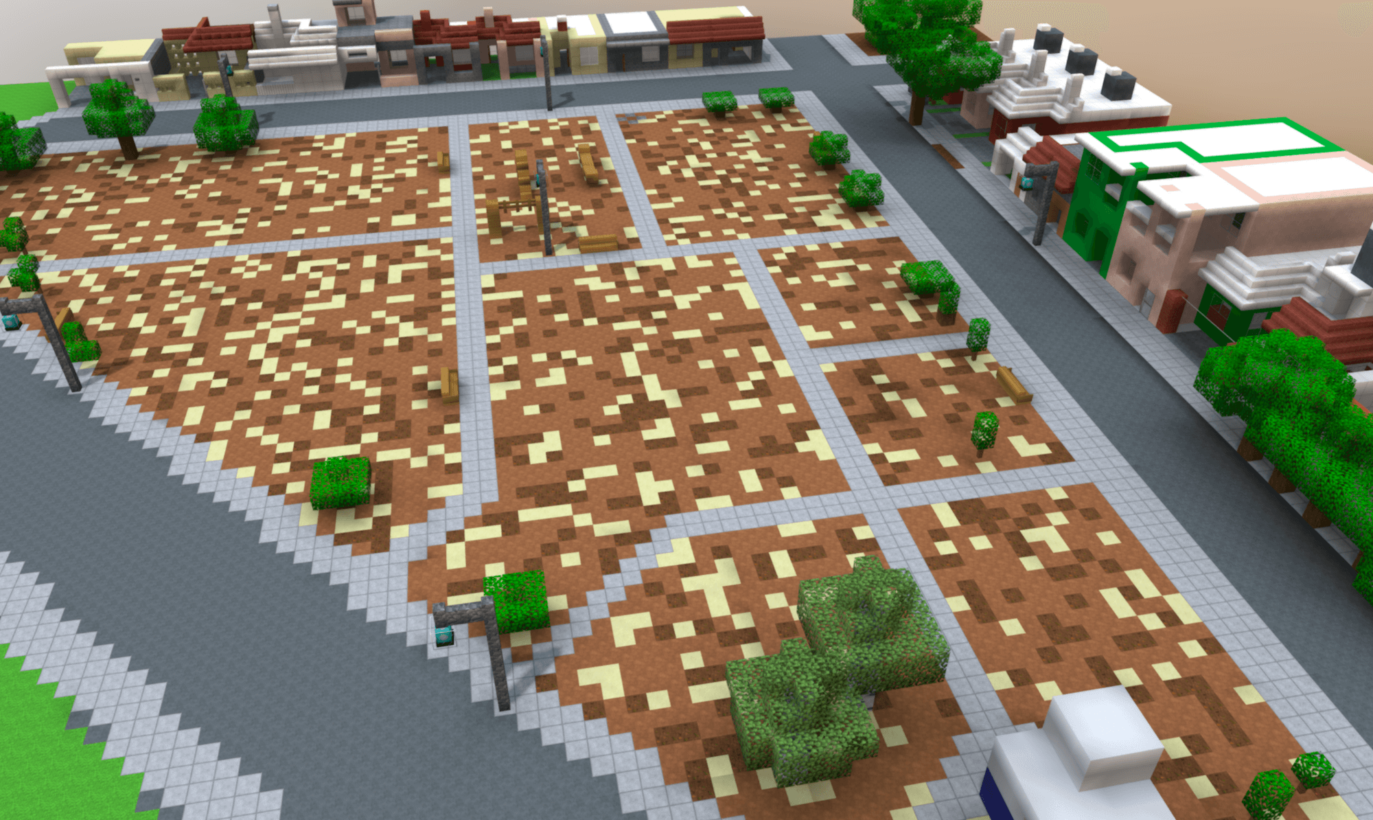 3D Minecraft Model of Mexicali