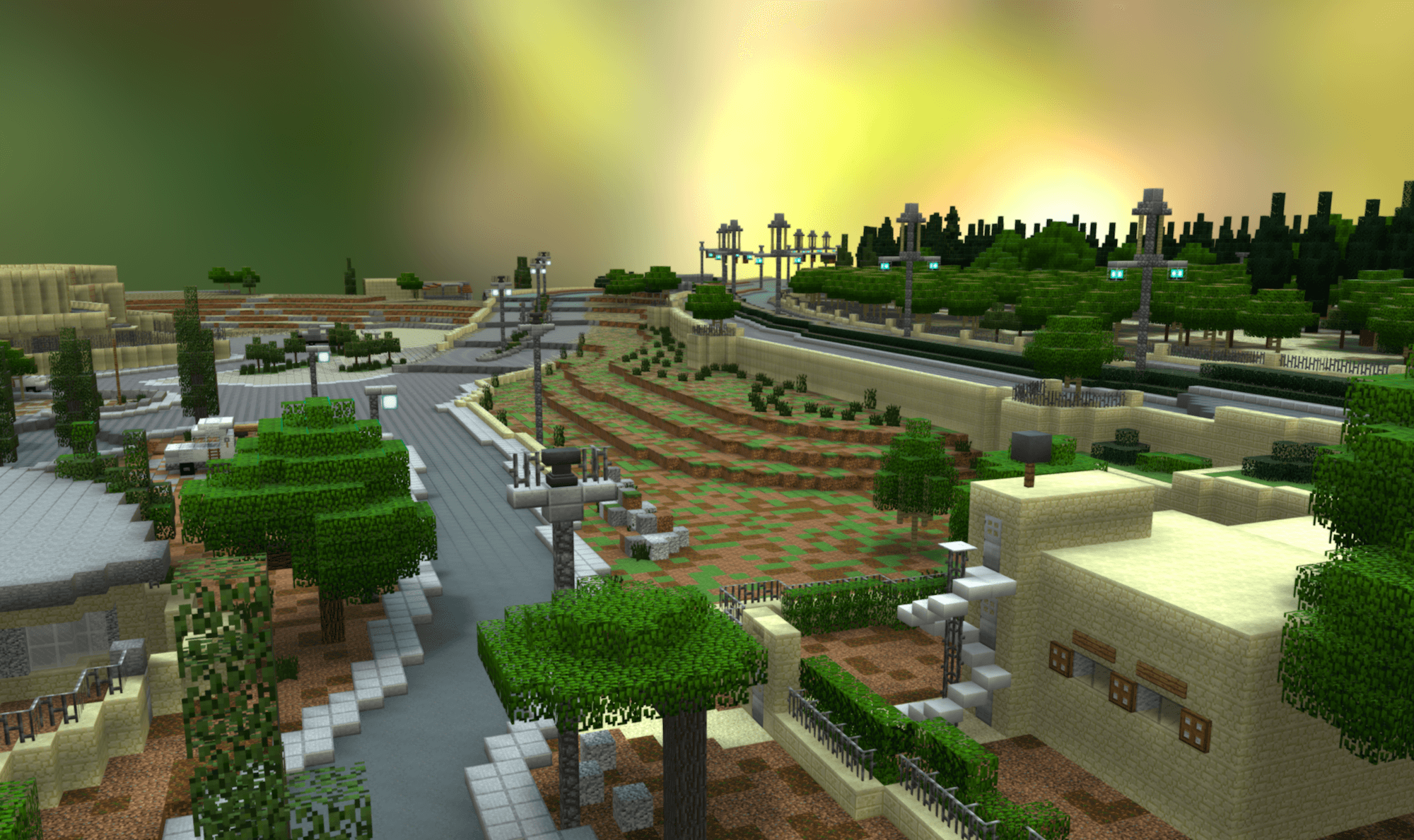 3D Minecraft Model of Community-Designed Public Space, Palestine