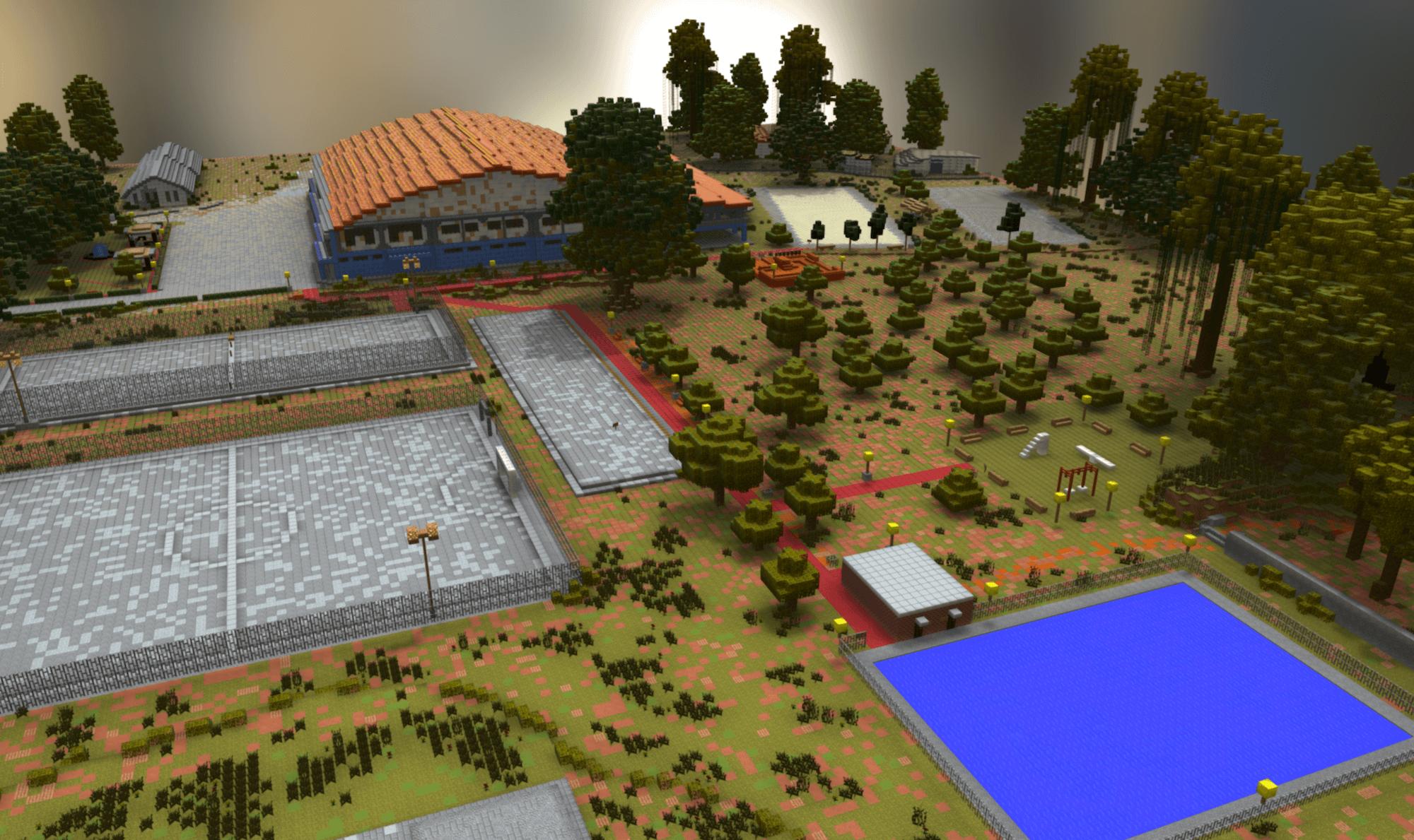 3D Minecraft Model of Community-Designed Public Space, Honiara, Solomon Islands