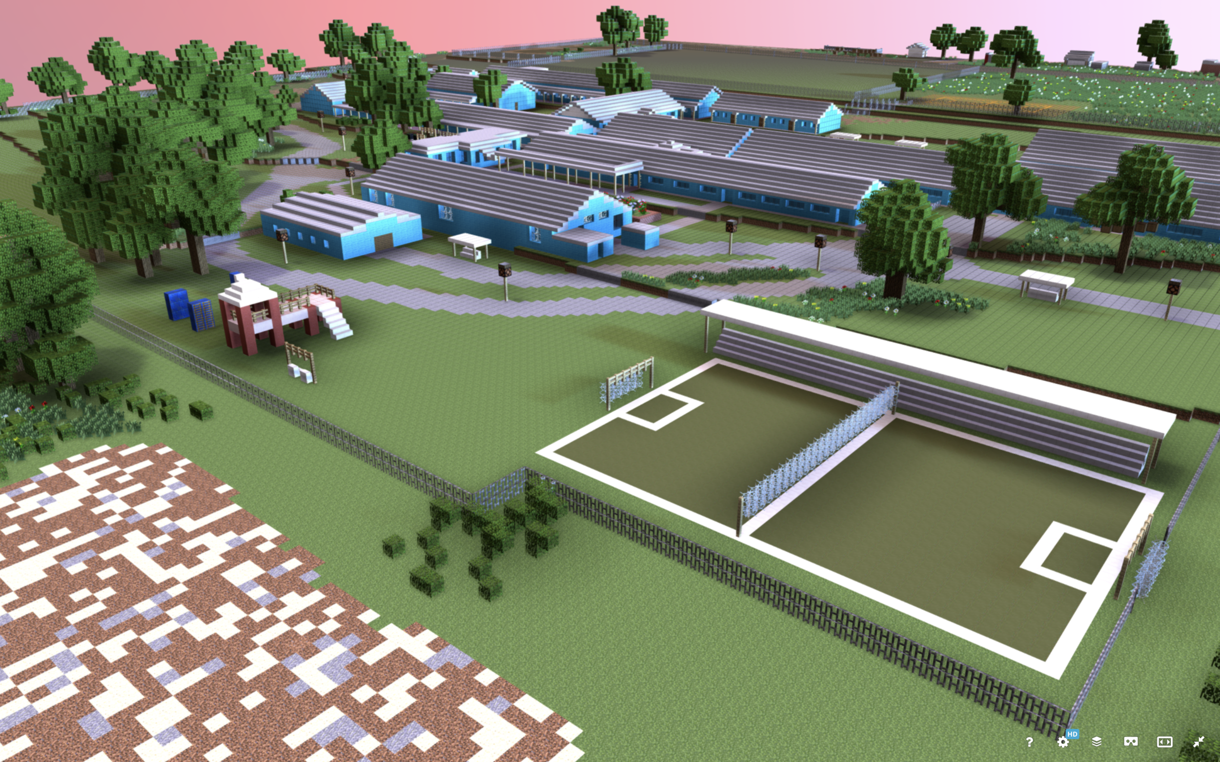 3D Minecraft Model of Community-Designed Public Space, Vukuhambe Special School