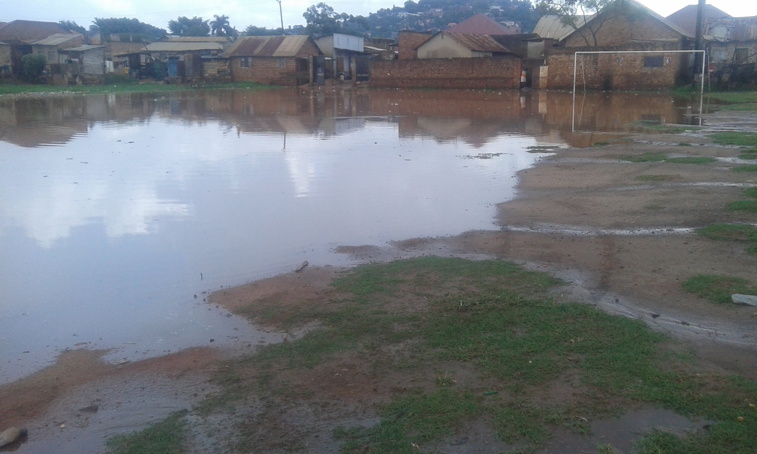 Large-scale flooding severely affects the usability of the field. Credit: UN-Habitat