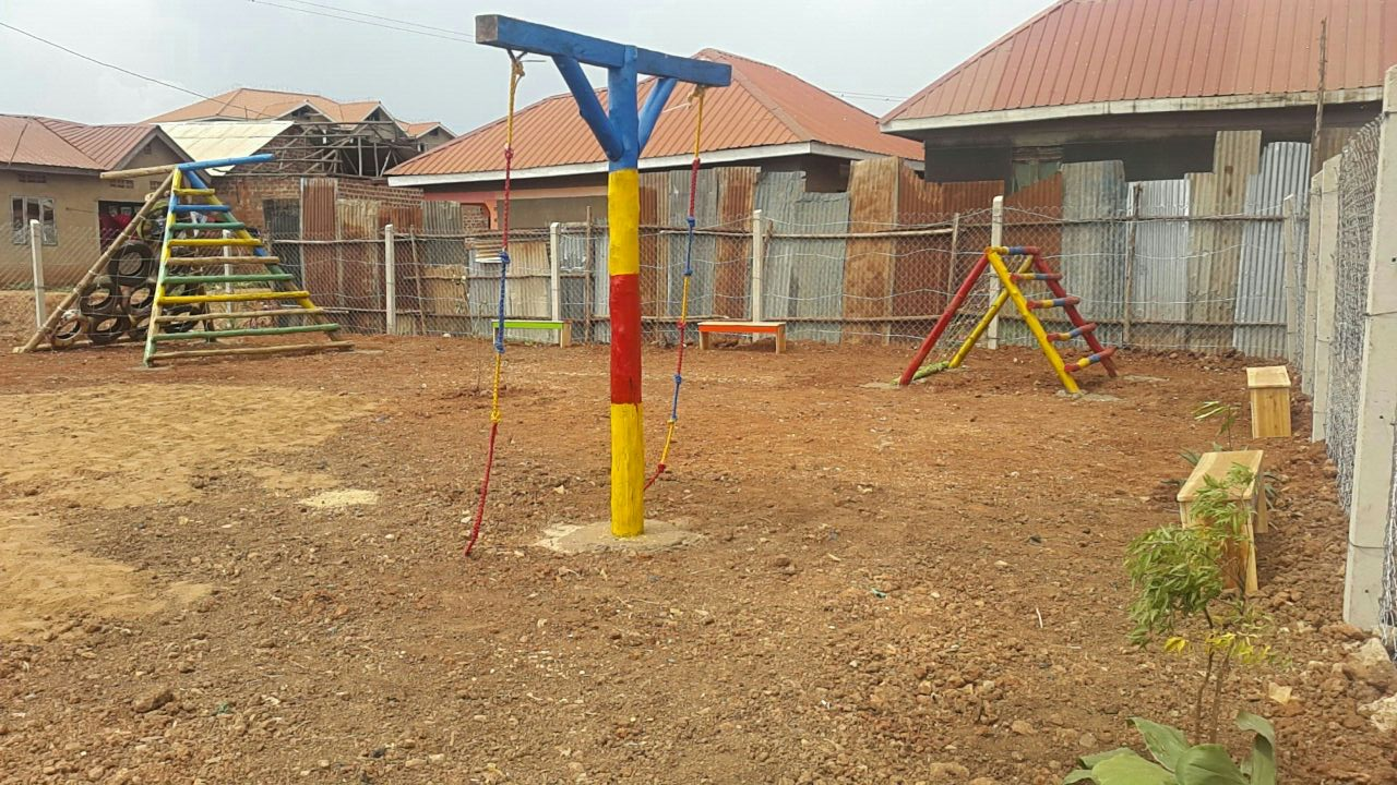 A new playground gives children protected space to play. Credit: UN-Habitat