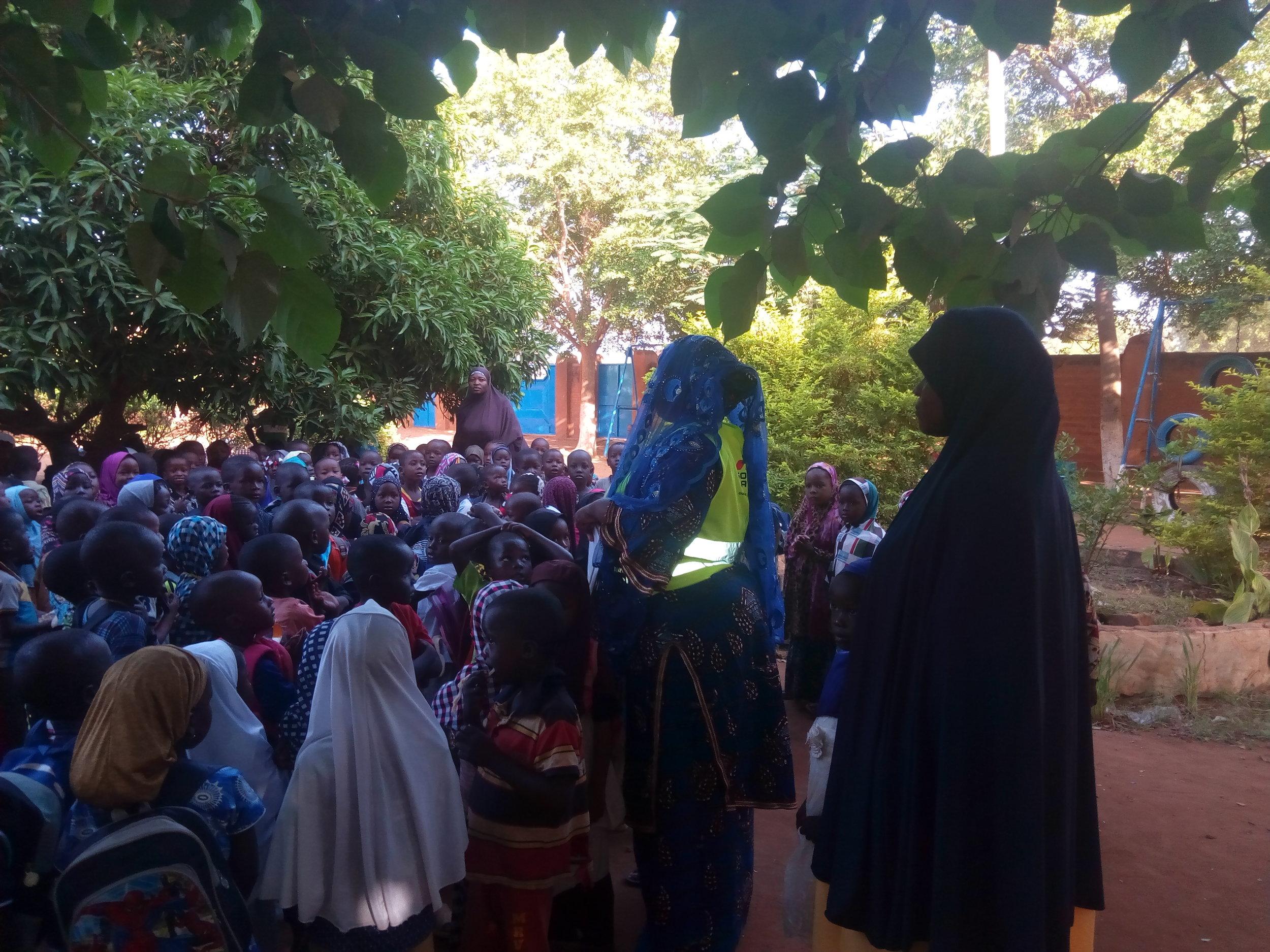 The community gathered to discuss the park renovation. Credit: UN-Habitat