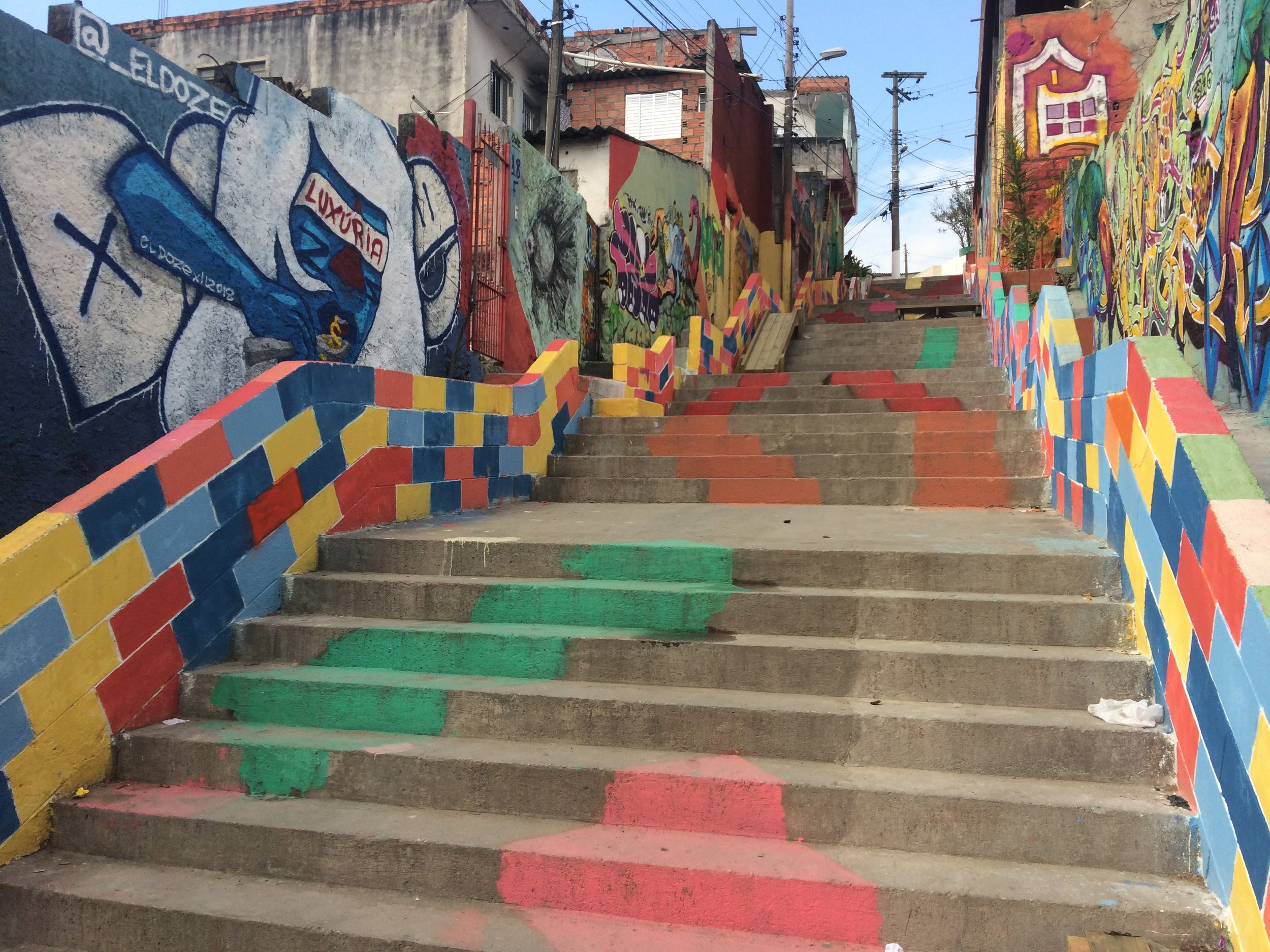 Public intervention transformed this once-neglected staircase into a work of art. Credit: Cidade Ativa
