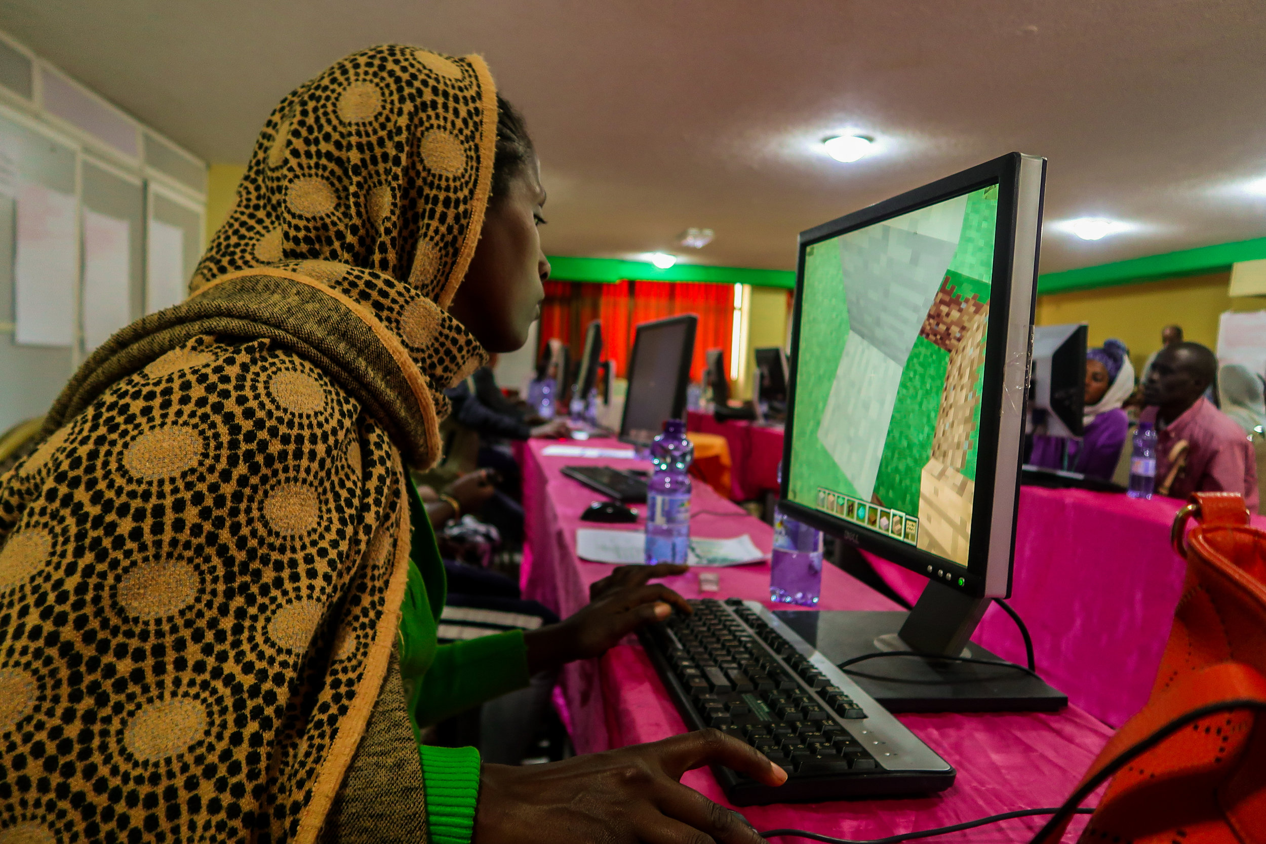 72 men, women, and children attended workshops to design with the help of Minecraft. Credit: UN-Habitat
