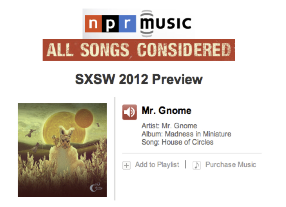 NPR All Songs Considered - SXSW 2012 PreviewREAD MORE