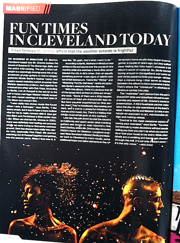 Magnet Magazine - FEATURE: Fun Times in Cleveland TodayNovember 2011READ MORE