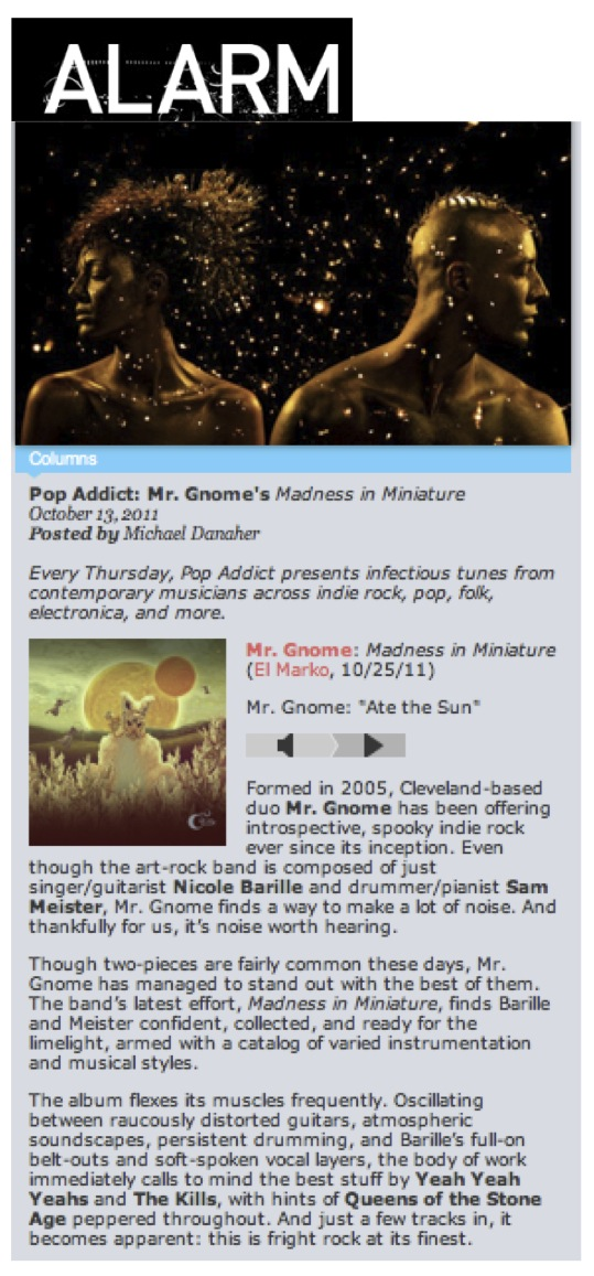 Alarm Magazine - Pop Addict: Mr. Gnome's Madness in MiniatureOctober 2011