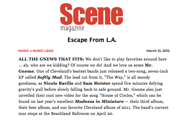 Scene Magazine - Softly MadMarch 2012READ MORE