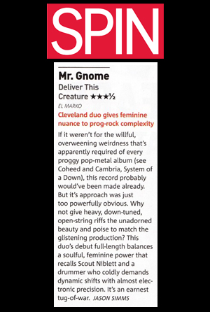 SPIN Magazine - Review: Deliver This CreatureMay 2008