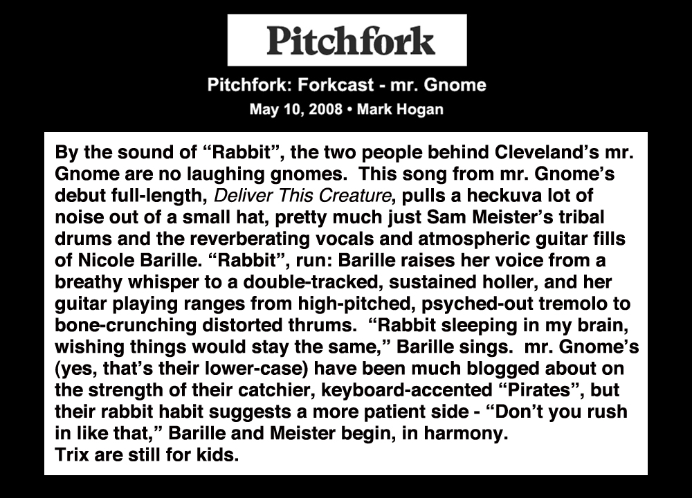 Pitchfork - Forkcast - mr. GnomeMay 2008