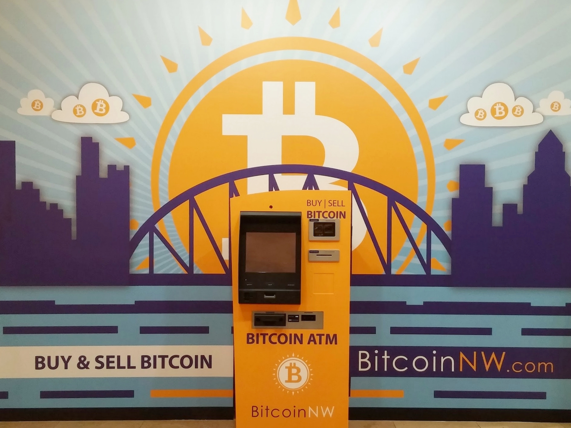 - Headquartered in Portland with kiosk locations throughout Oregon and Northern California, our mission is to make digital currency more accessible to the general public.Eliminate the need for online digital exchanges, and buy and sell bitcoin directly with cash. Simply scan your QR code to transfer coin easily and safely between our system and your existing wallet.