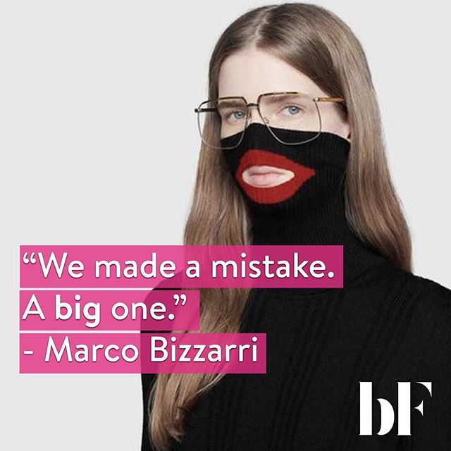 "After #Gucci's official apology for its sweater that resembled blackface, a memo circulated internally within the Italian company that indicates that CEO Marco Bizzarri is taking the scandal very seriously. ""We made a mistake. A big one. Because of cultural ignorance, but ignorance is not an excuse,"" he wrote, before continuing on to state that he is ""working on a set of immediate, concrete actions"" to implement, including a scholarship program to ""facilitate an increase of different communities within the creative office."" • The memo followed Dapper Dan's (Gucci's creative collaborator) statement. ""There cannot be inclusivity without accountability"" he wrote on his Instagram (swipe to read in full 👉) We couldn't agree more💫. Just saying your intentions were never to offend is not enough. It looks the way it looks and people are interpreting it differently. (which should have been predicted in the first place🤦🏽‍♀️🤦🏻‍♀️)."