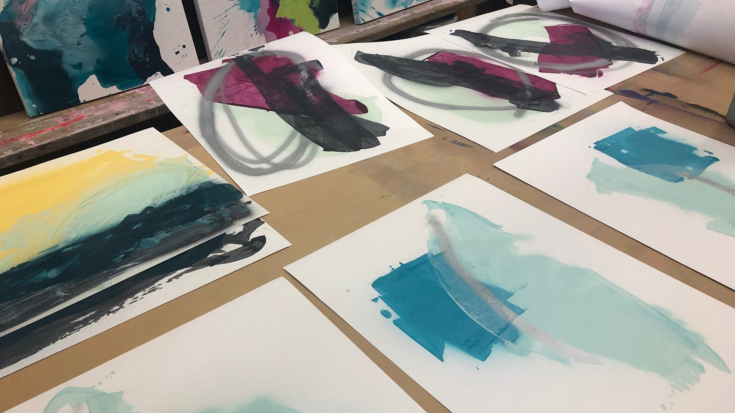 Pushing Paint -