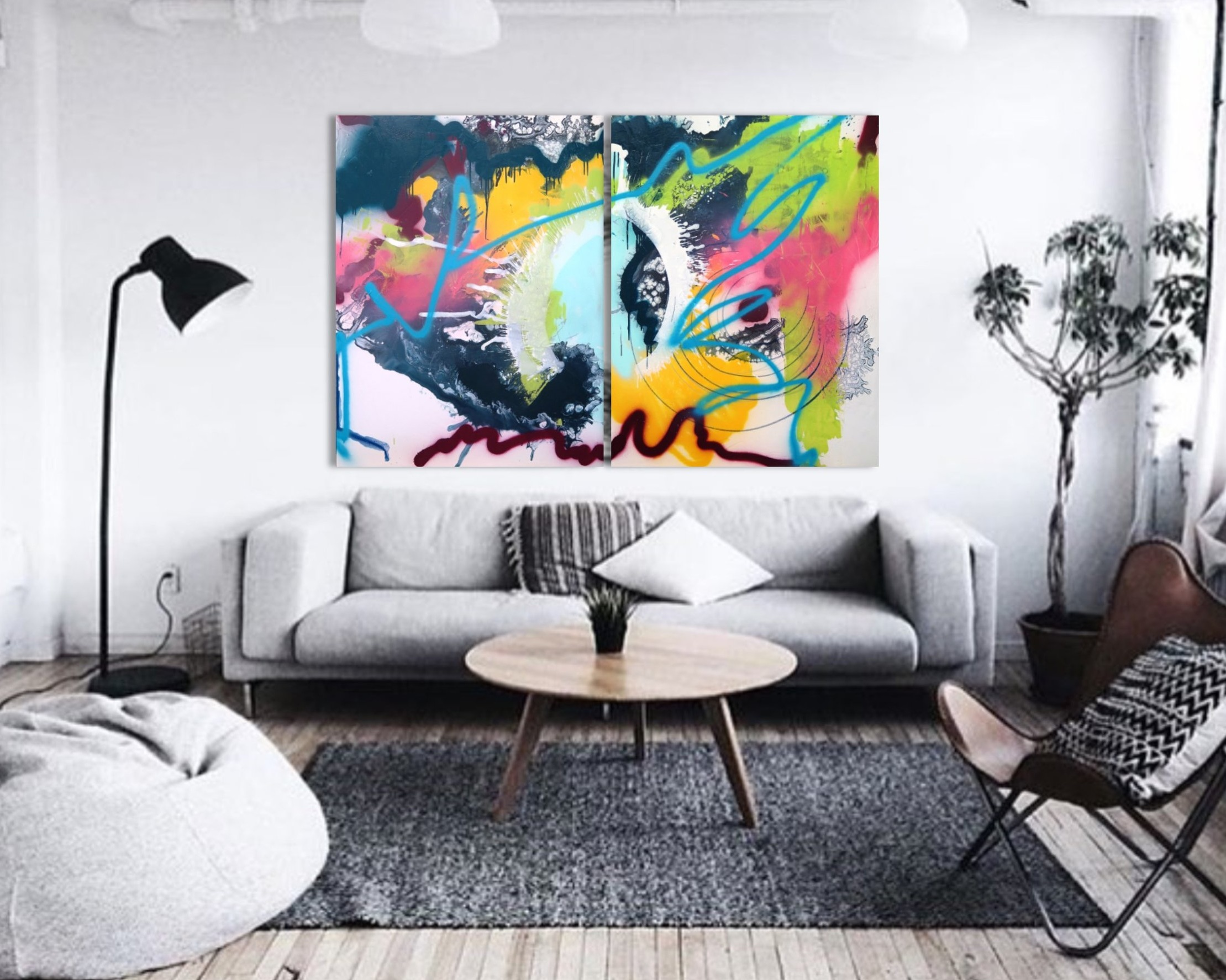 Charged - An over sized collection of mixed media works on paper and canvas full of boisterous color, reaching motions and high energy will revitalize the heart and invigorate the mind.Shop Charged Collection