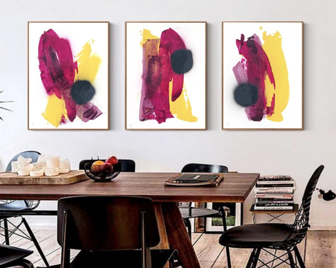 Pushing Paint - Free expression with color is one of the hallmarks of my work. Exploration through pushing color over surfaces in bold strokes creates a balance of energy and peaceful simplicity.Shop Pushing Paint Collection