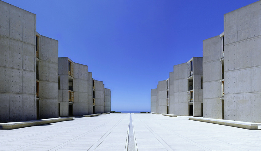 The Salk Institute by Louis Kahn. Photography by Liao Yusheng.