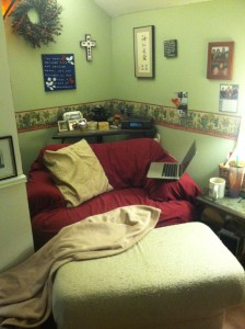 This is my peaceful nook