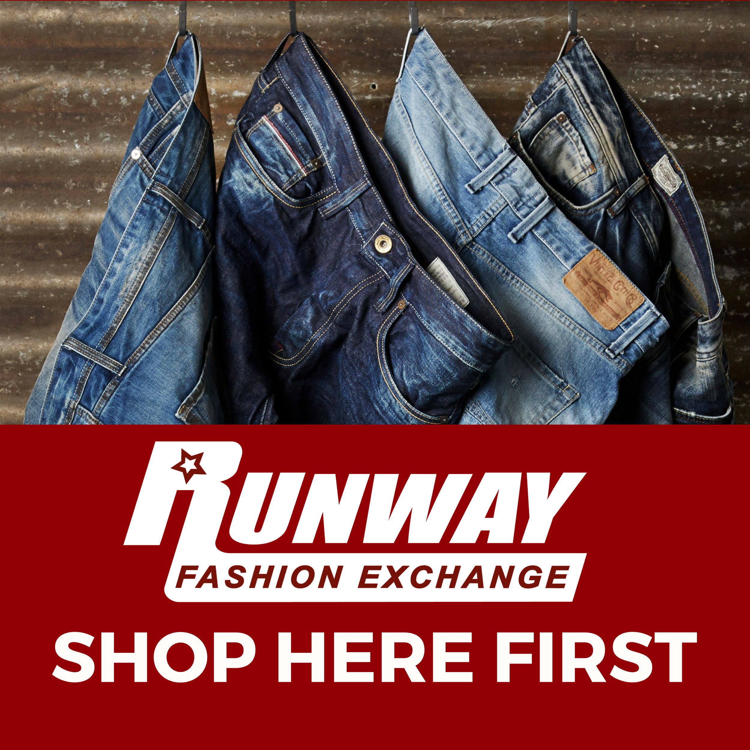 rfe - shop here first jeans - poster 52x52.jpg