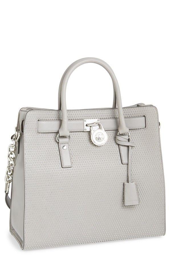 michael kors purse pearl grey lock leather.jpg