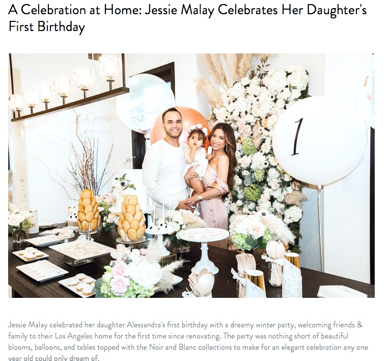 A Celebration at Home: Jessie Malay Celebrates Her Daughter's First Birthday
