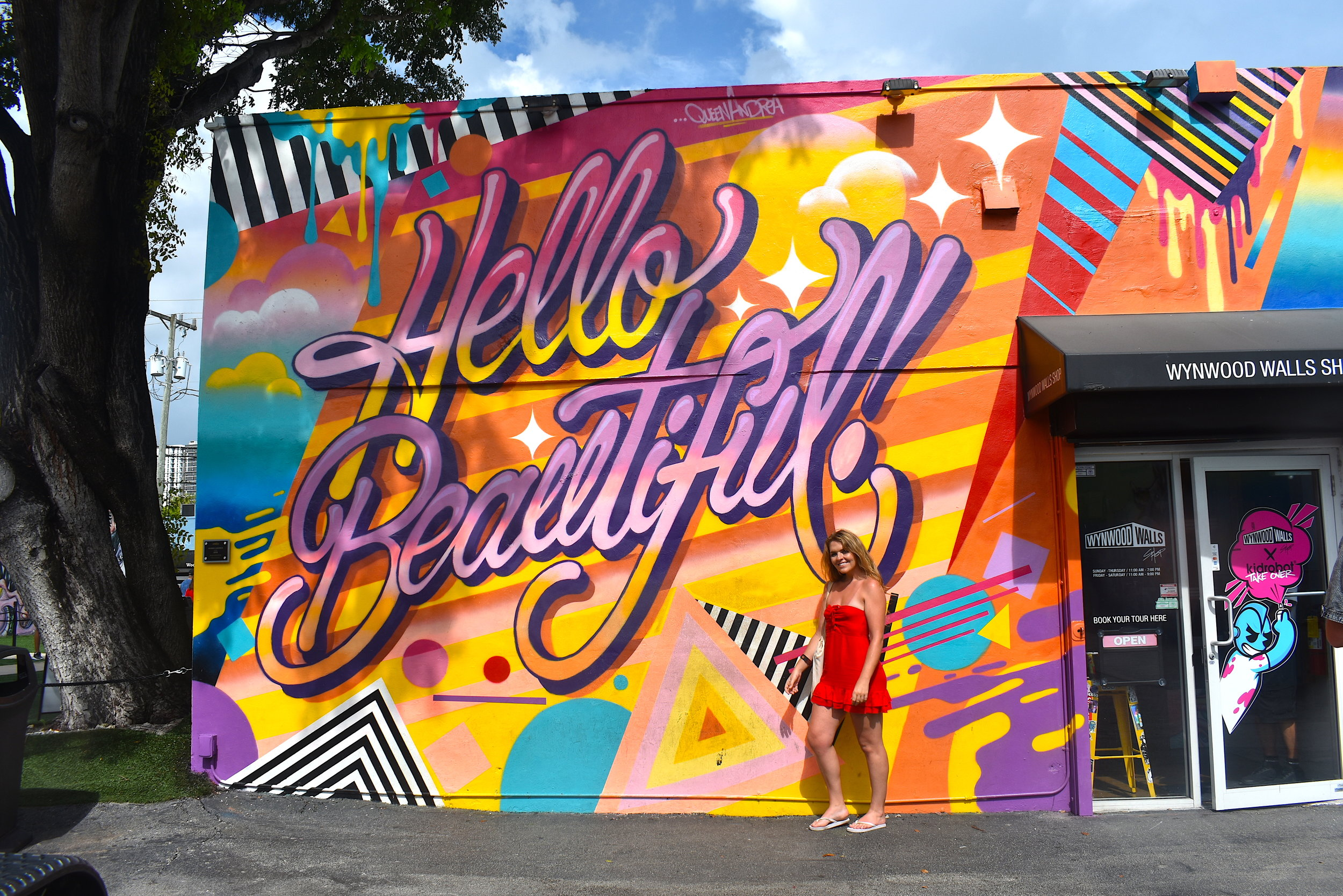 Me with  Queen Andrea's  Mural