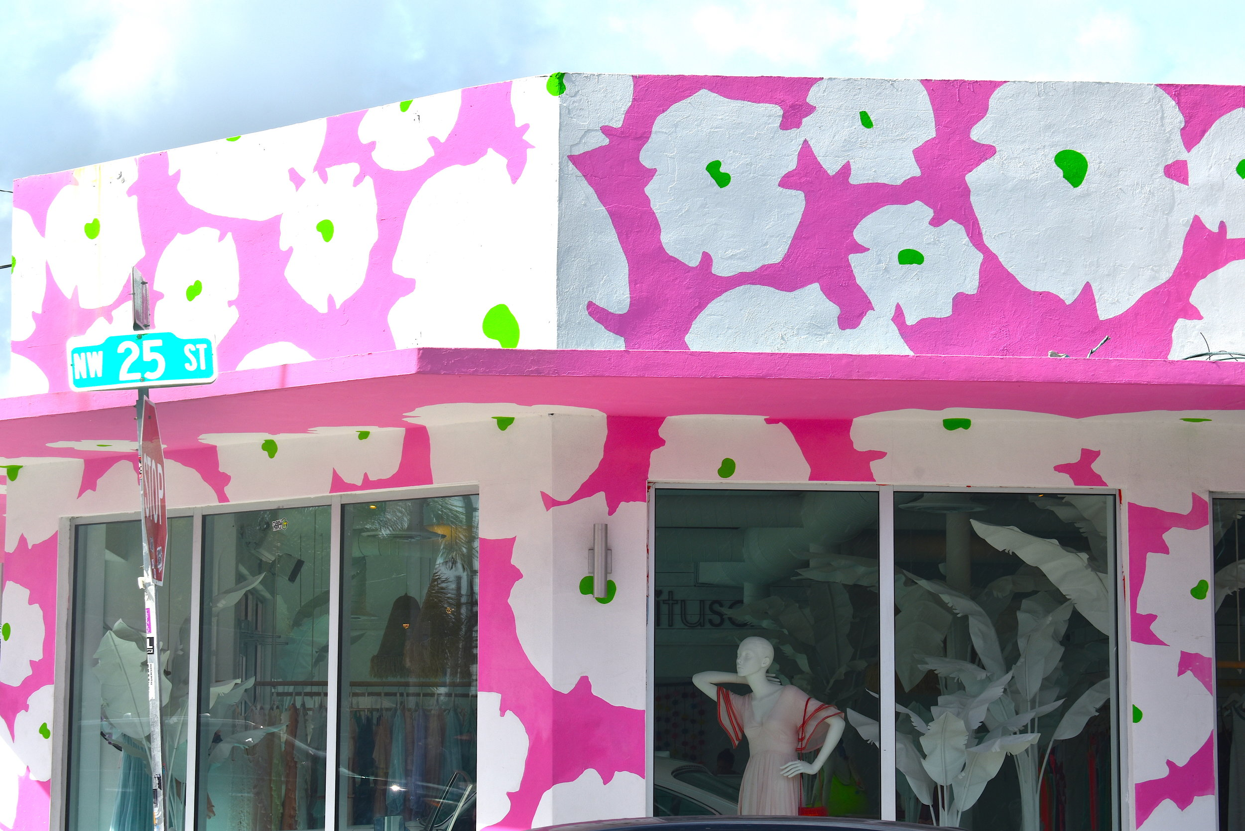 Every shop in Wynwood is covered with colorful designs.
