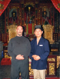 Dr. Johnson and Priest Ming Xian (Maoshan Daoist Monastery)