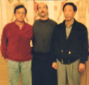 Shifu Henery Look, Shifu Jerry Alan Johnson, and Shifu Park Bok Nam (Pacific Grove, California)