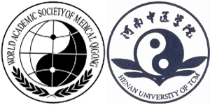Right : The Vice-President (Representing the United States) (W.A.S.O.M.Q.)  Left : Overseas Director Medical Qigong College (U.S.A.) (H.U.T.C.M.)