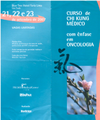 2007 – Lectured on using Medical Qigong Therapy with Oncology, for the Prime Medical Center in San Paulo, Brazi