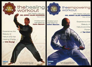 Right :1994 – The Chi Kung Healing Workout  Left : 1994 – The Tai Chi Empowering Workout