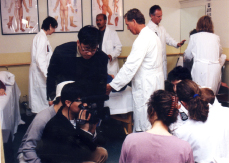 2000- Seoul Broadcasting System (S.B.S.) from Korea, Filming Medical Qigong Doctors working at the Five Branches Institute, College of T.C.M.
