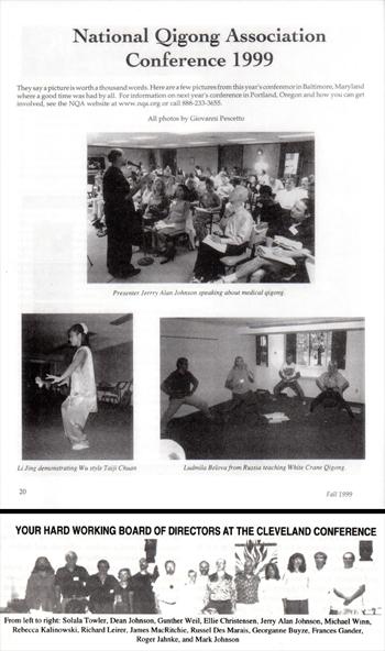 1999- The National Qigong Association Board of Directors