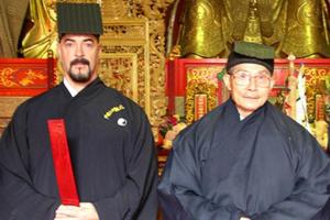 Dr.-Jerry-Alan-Johnson-Dr.-Shannon-with-their-talisman-teacher-@LongHu-Shan.jpg