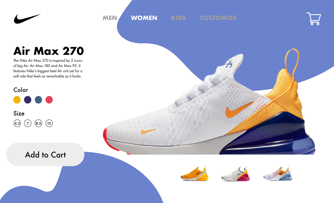 Nike AirMax 270 Landing Page Concept