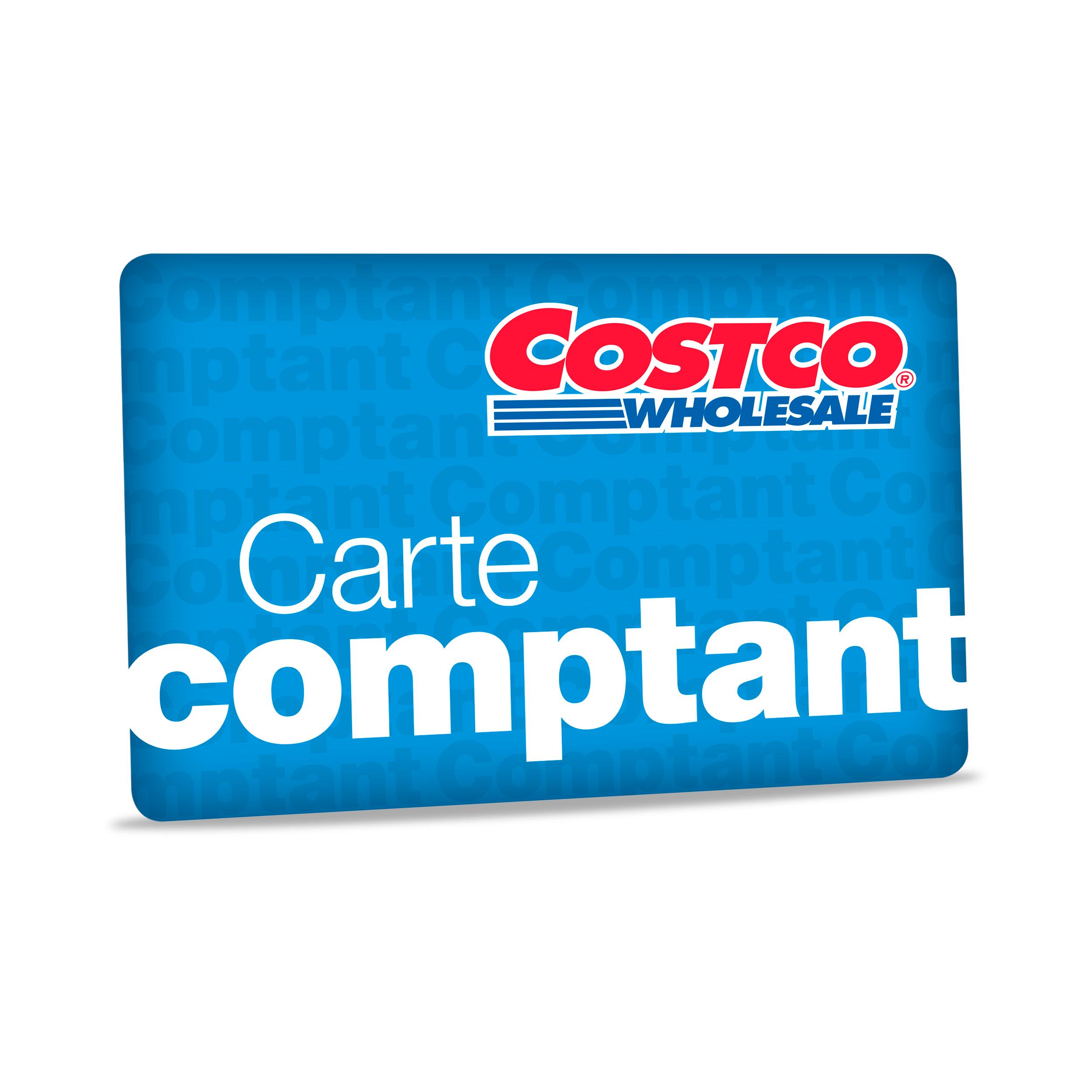 Carte cadeau Costco de 1200$  - Peut être utilisée dans tous les entrepôts Costco ou en ligne à Costco.ca - Aucune date d'expiration - Utilisable aux postes d'essence Costco