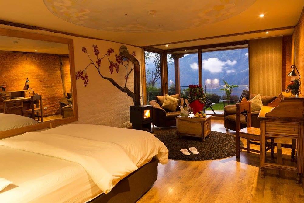 Hab. Romántica Mi Bombón con espectacular vista a Baños y al Parque Nacional Llanganates