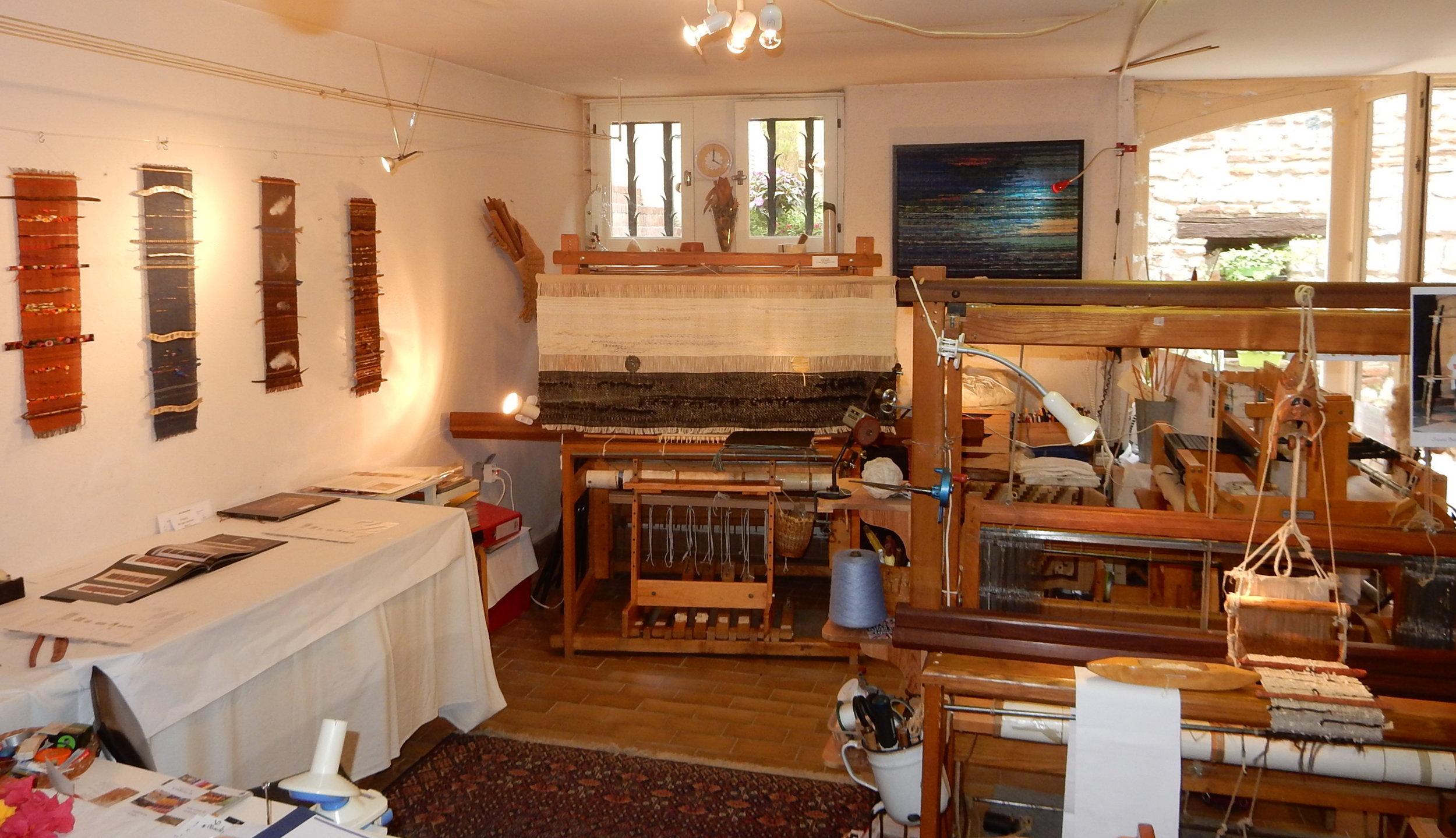 l'atelier de tissage Sylvie Boyer