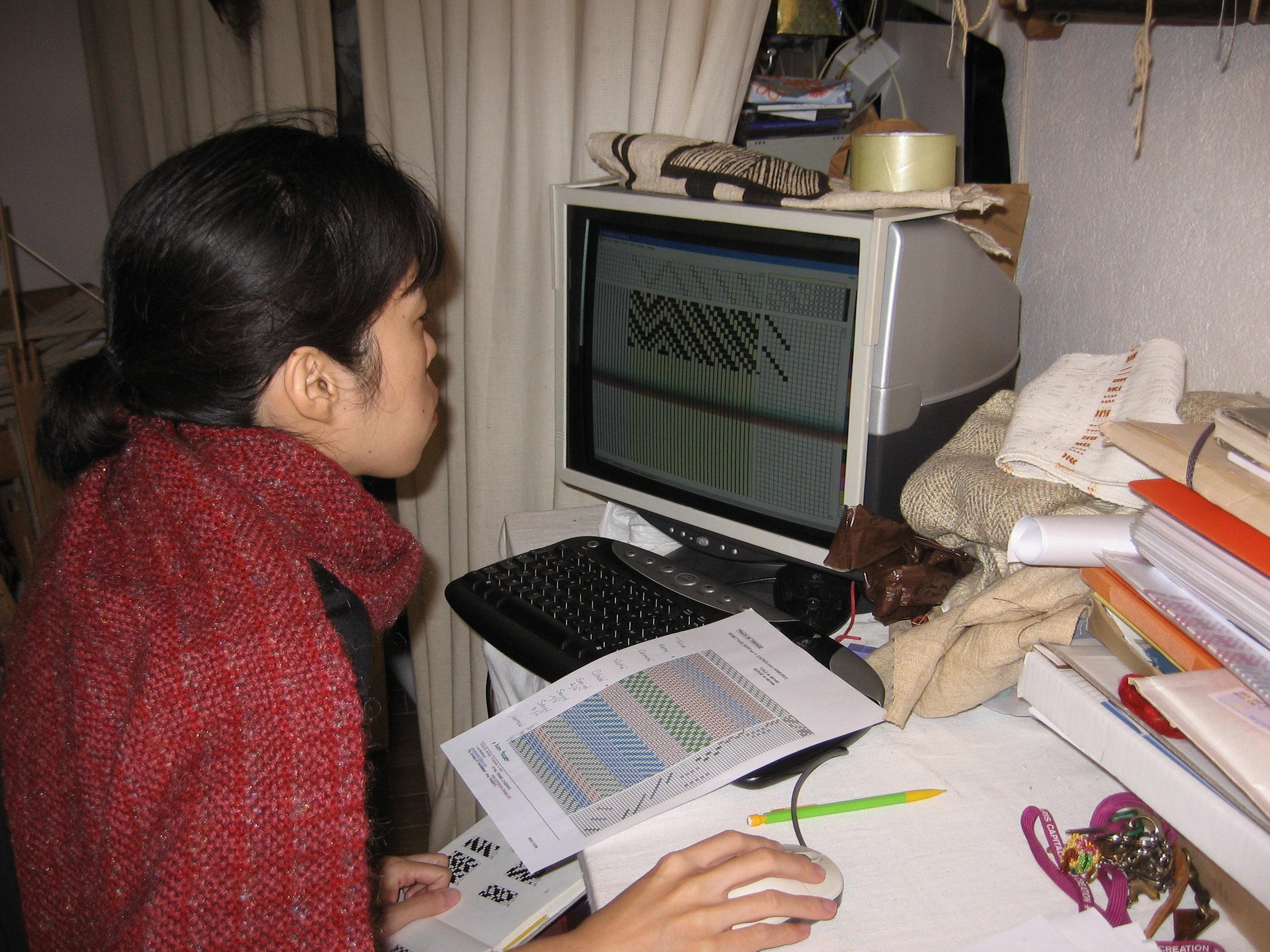 Préparation sur logiciel textile