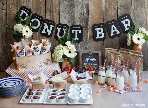 Food for Thought - This year, dessert and wedding cakes are not just going quirky – think meringues, macarons, cheesecake and donuts – it's also going large scale: ladies and gentlemen, I'm talking of a dessert buffet table. This way you get all the sweet goodies you want plus wedding cake for the traditionalists. Although many couples are foregoing the traditional completely – no three-tiered cake and no three-course sit down meal.