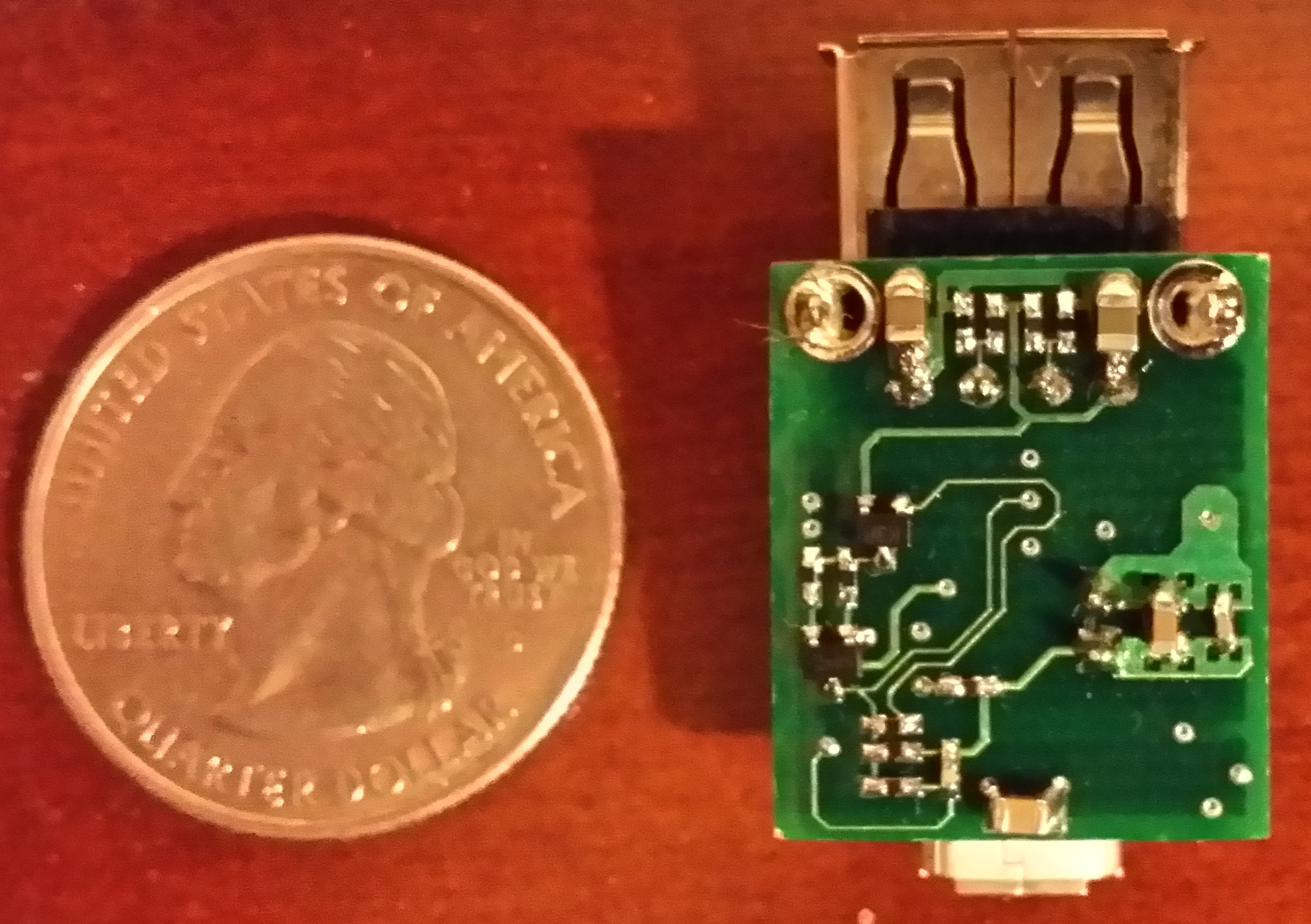Charger PCB, Bottom View