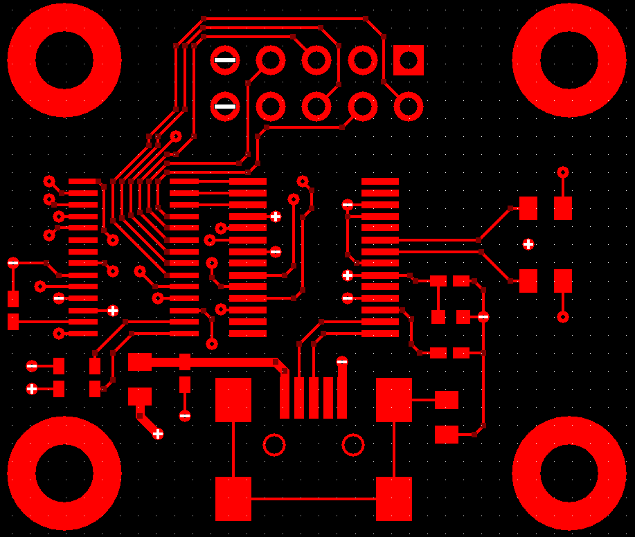 USB to RS232 PCB, Top Layer