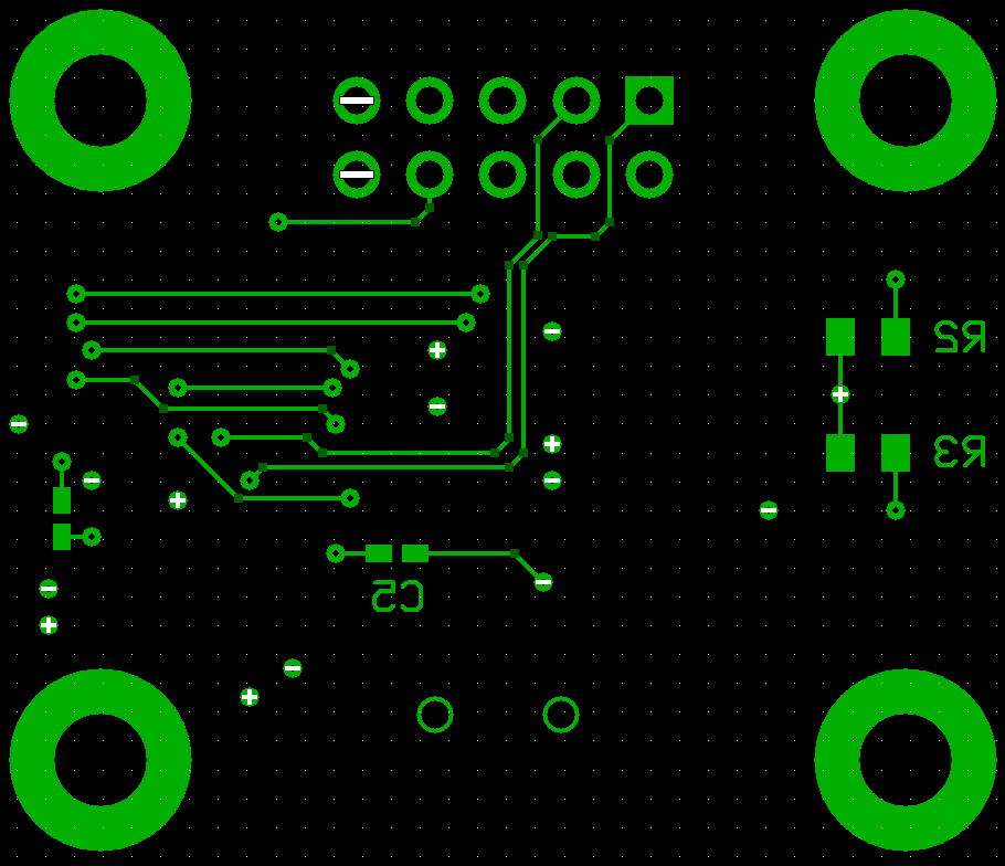 USB to RS232 PCB, Bottom Layer