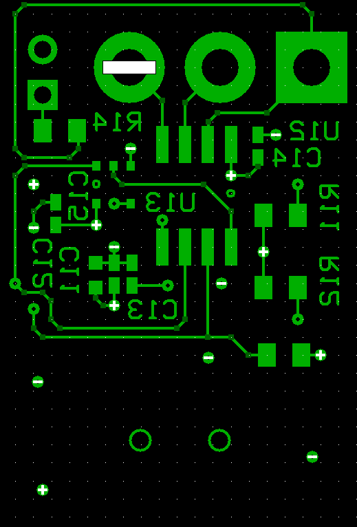 USB to RS485 PCB, Bottom Layer