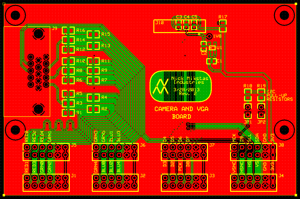 Camera PCB Design, All Layers