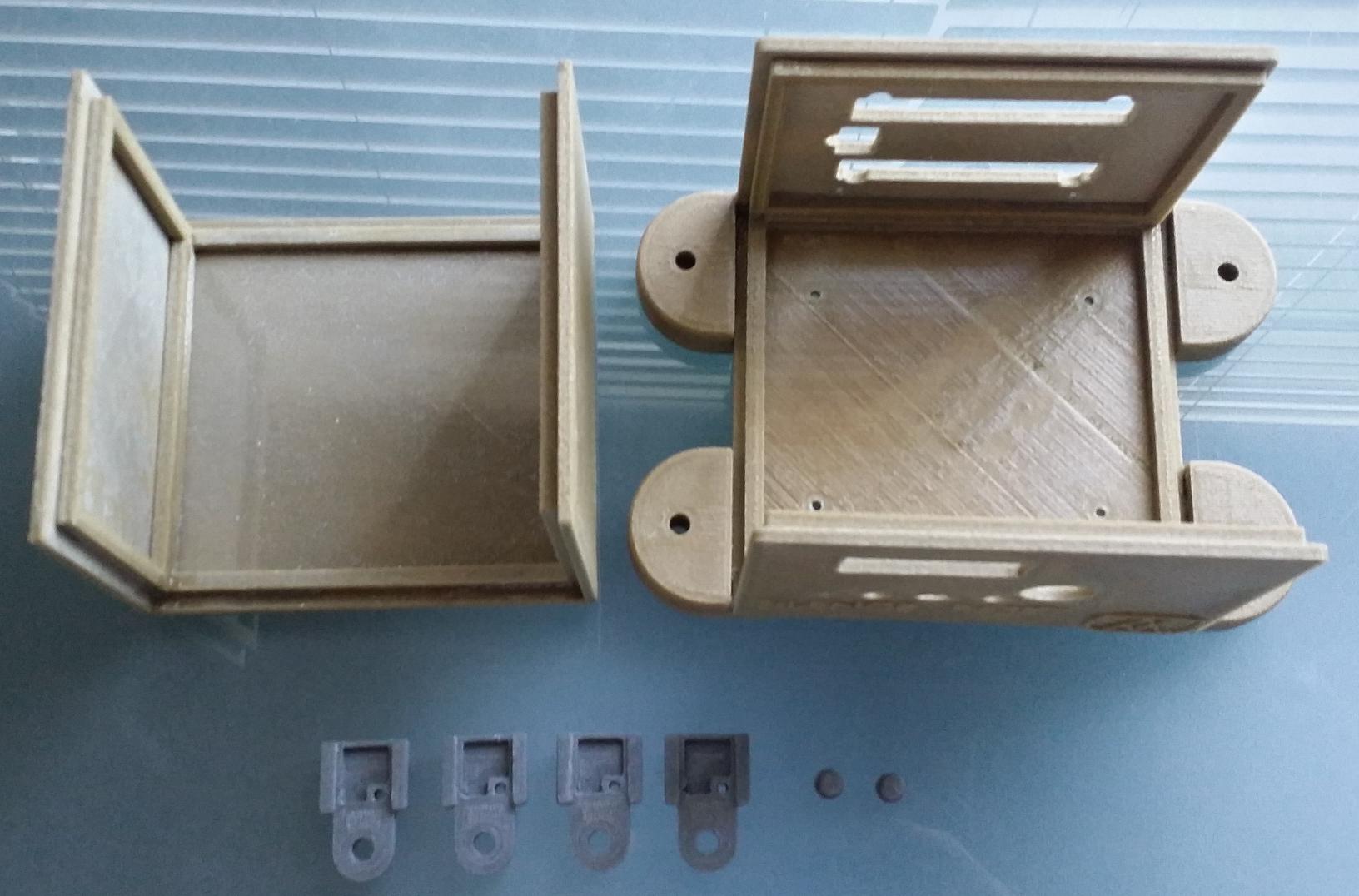 Printed Enclosure and Temperature Sensor Holders