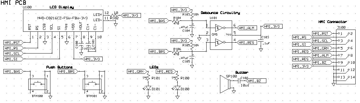 HMI Board Schematic