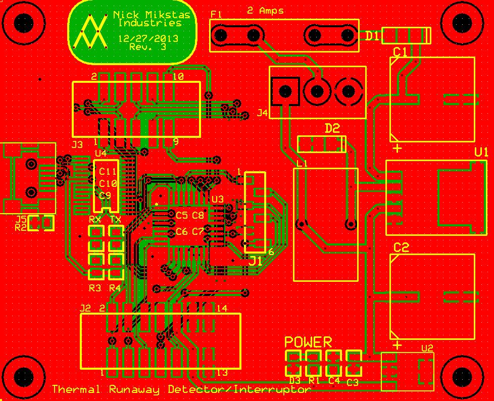 Main PCB Top, Bottom and Silkscreen Layers