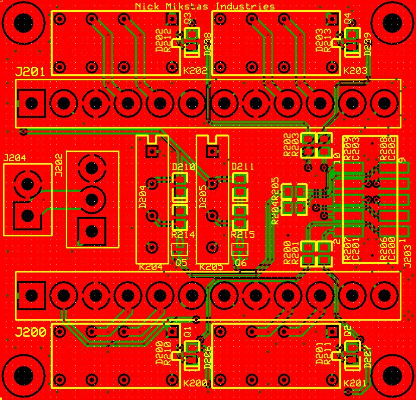 IO PCB Top, Bottom and Silkscreen Layers
